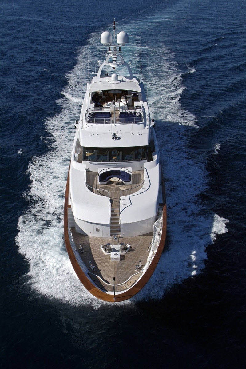 Deck: Yacht QM OF LONDON's From Above Aspect Captured