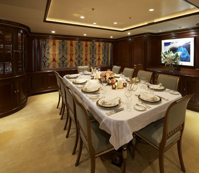 Eating/dining Saloon On Board Yacht TELEOST