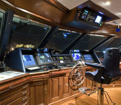 Pilot House On Yacht TELEOST