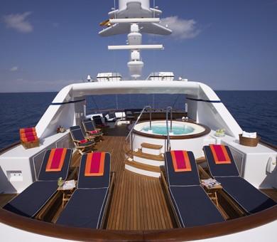 Sun Deck On Board Yacht TELEOST