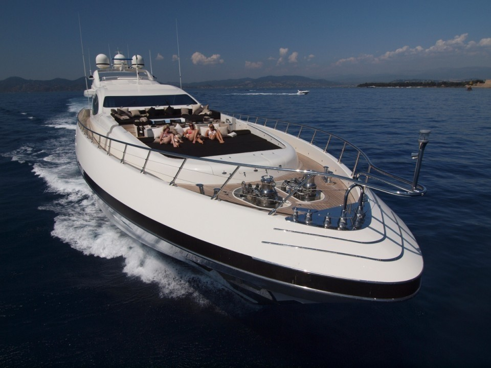 Forward Aspect Aboard Yacht ZEUS I