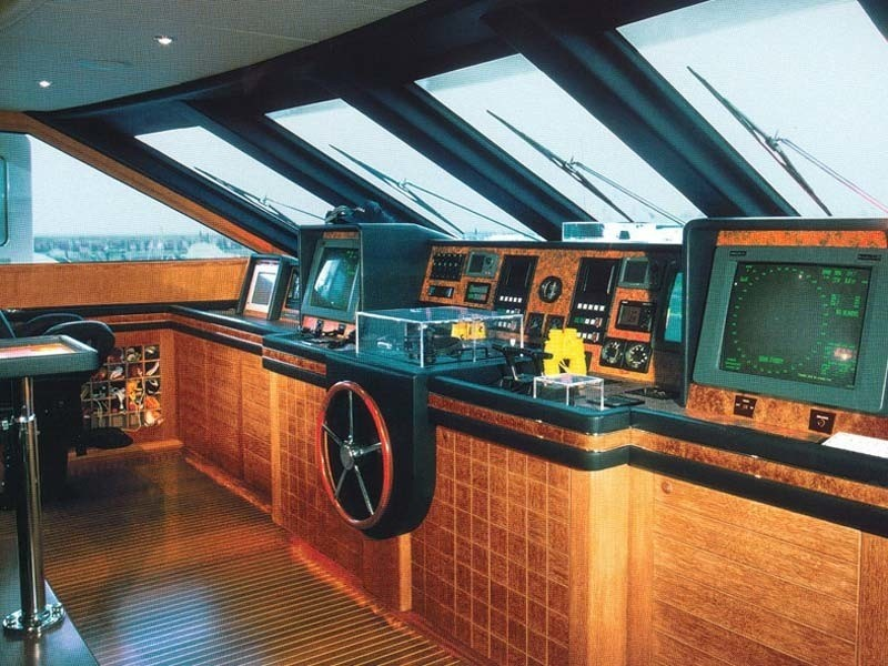 Wheel House On Board Yacht ALEXANDRA