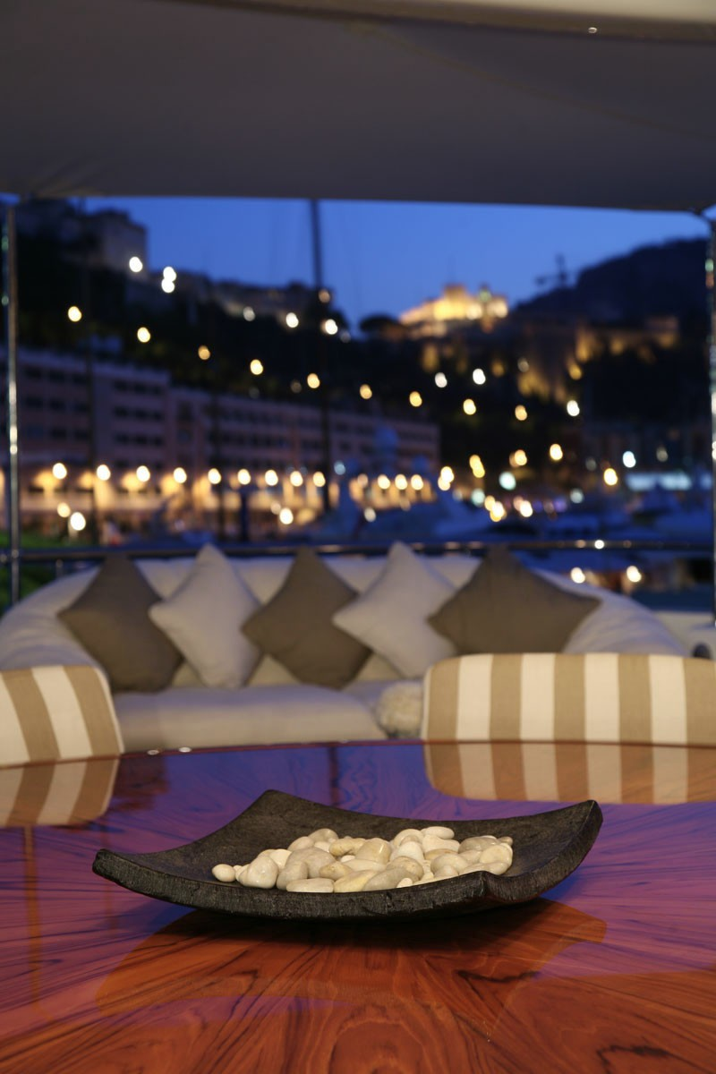 Evening: Yacht MARLA's Deck Sitting Captured