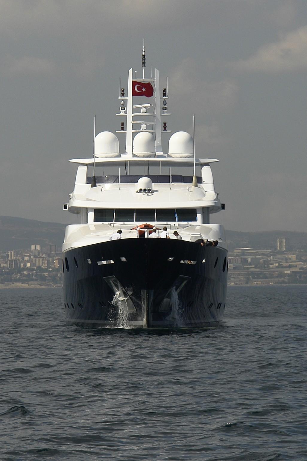 Ship's Bow On Yacht ODESSA