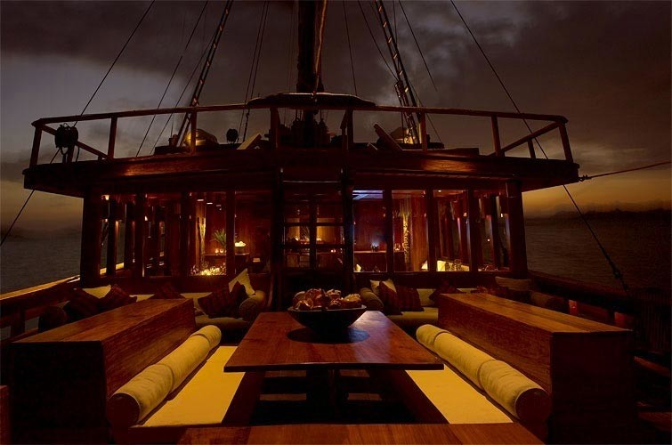 Evening: Yacht SILOLONA's Sun Deck Captured