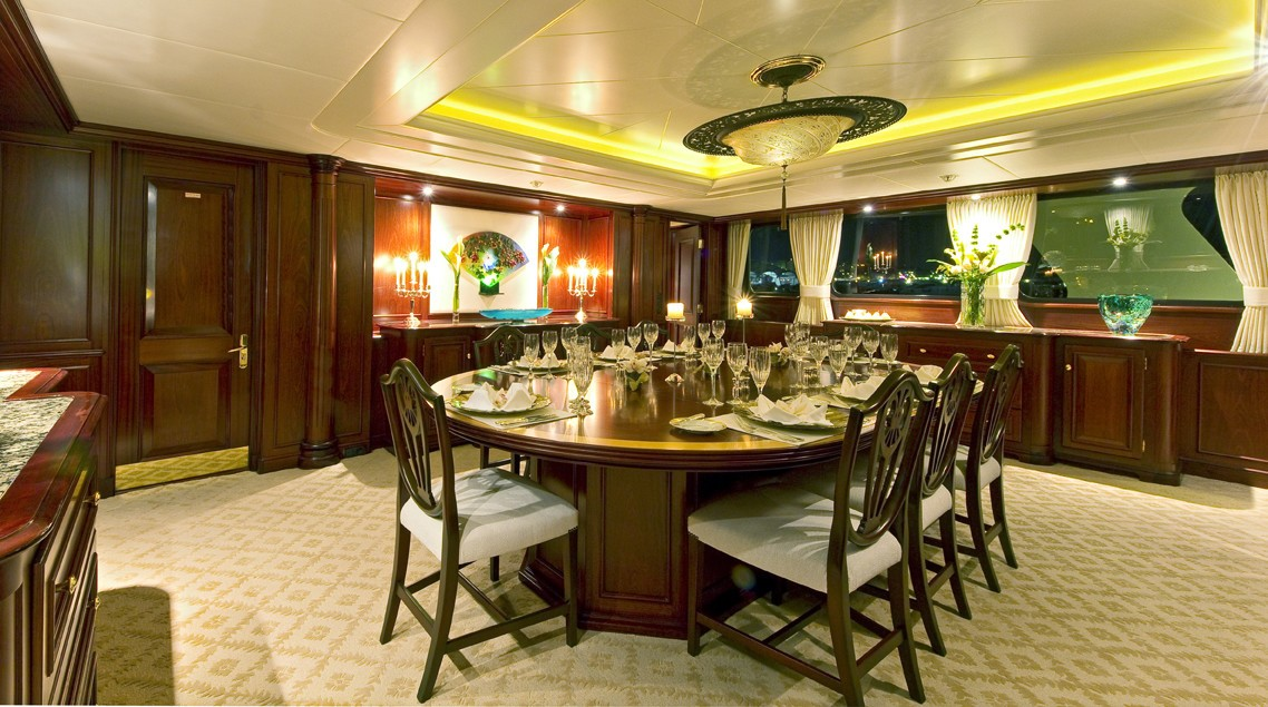 Furniture Set: Yacht LEGEND's Eating/dining Saloon Pictured