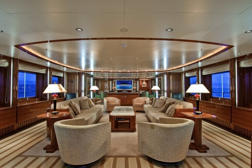 Profile: Yacht O'NEIRO's Premier Saloon Pictured