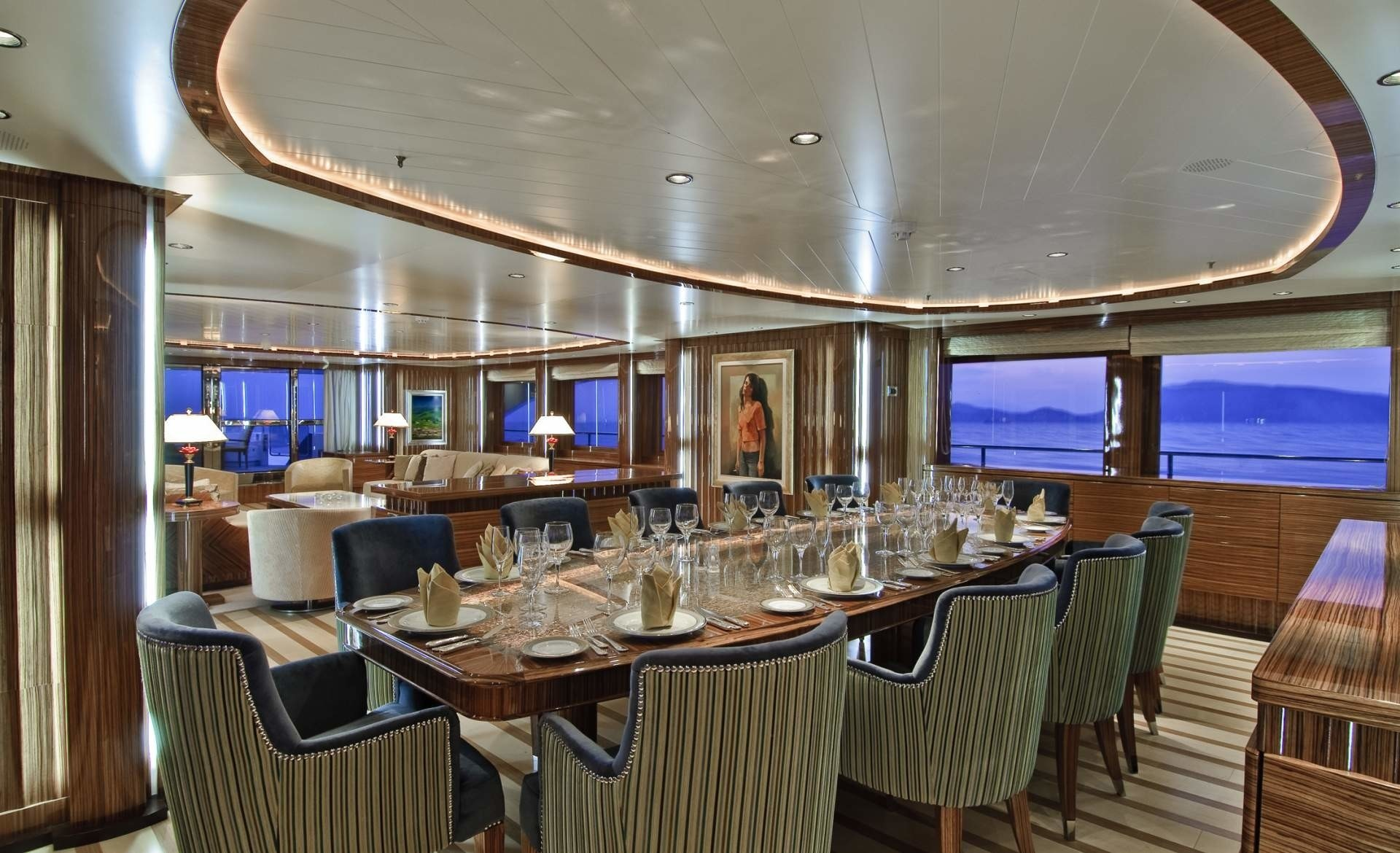 Eating/dining Saloon On Board Yacht O'NEIRO