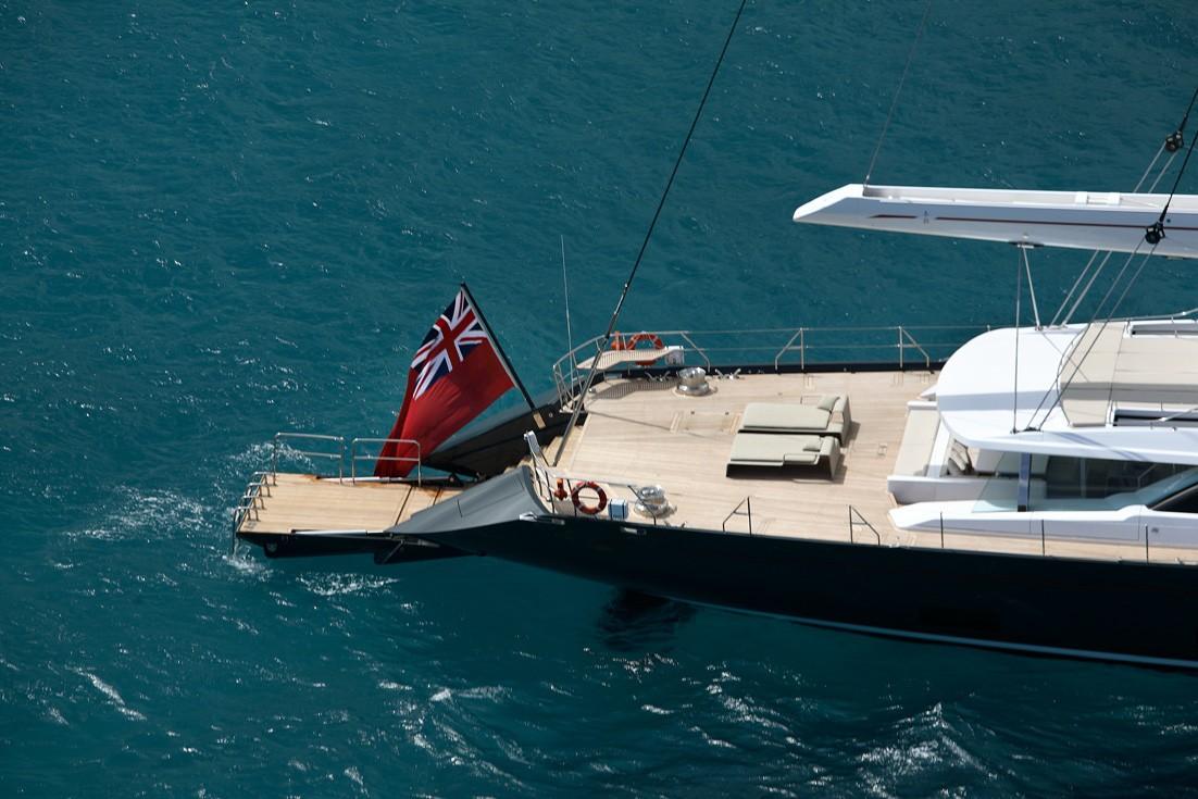 Swimming Landing On Yacht RED DRAGON