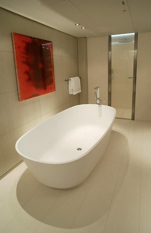 Main Master Bathroom On Board Yacht RED DRAGON