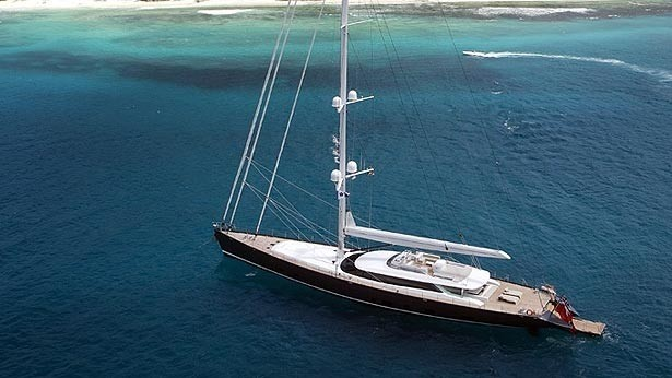 From Above On Yacht RED DRAGON