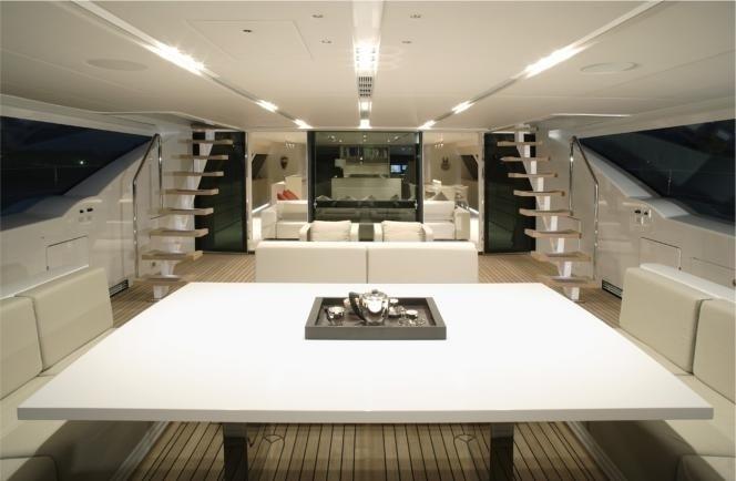 Aspect Interior On Board Yacht RED DRAGON