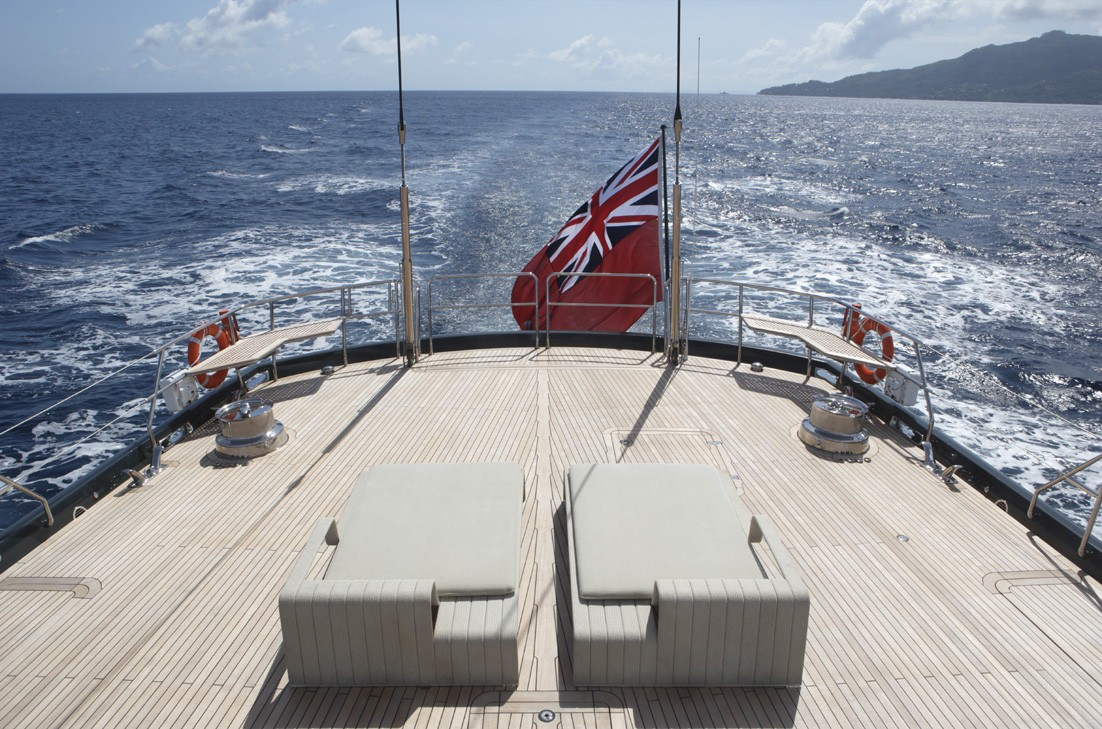 Aft Aspect Aboard Yacht RED DRAGON