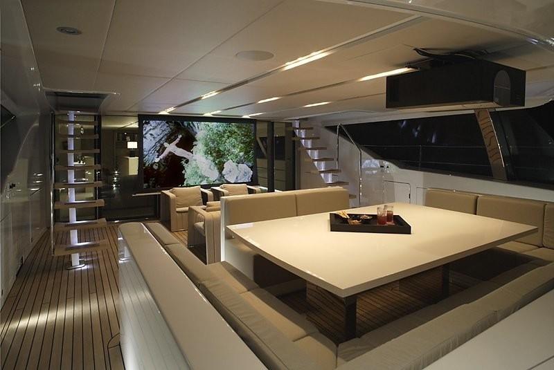 Exterior Movie Cinema Aboard Yacht RED DRAGON