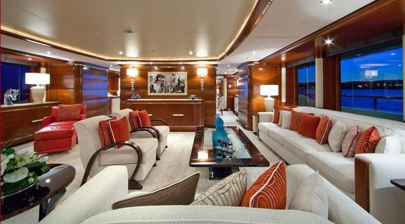 main deck saloon with huge sofas