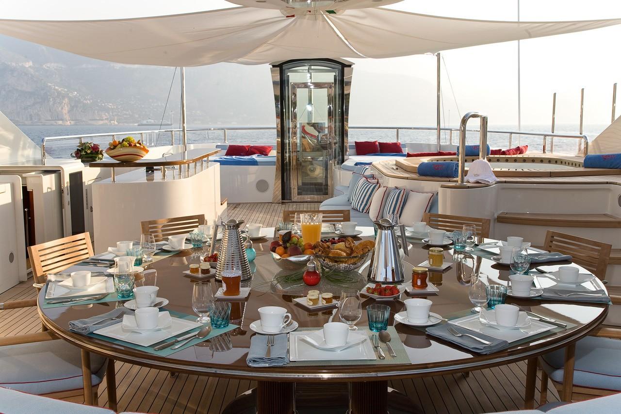 Sun Deck dining set up alfresco