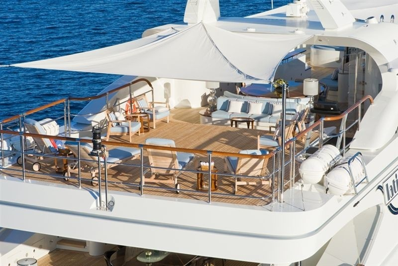 aerial close up view of the sun deck