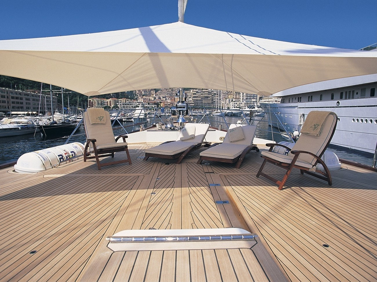 Sunshine Lounging On Board Yacht ATMOSPHERE