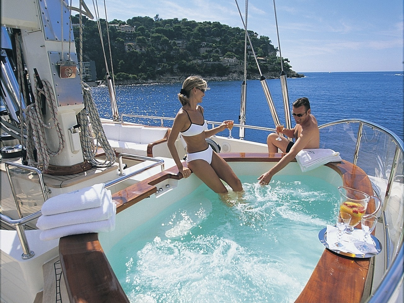 Jacuzzi Pool Aboard Yacht ATMOSPHERE