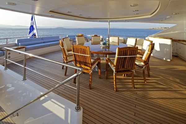 Top Deck Sitting On Board Yacht MIA RAMA