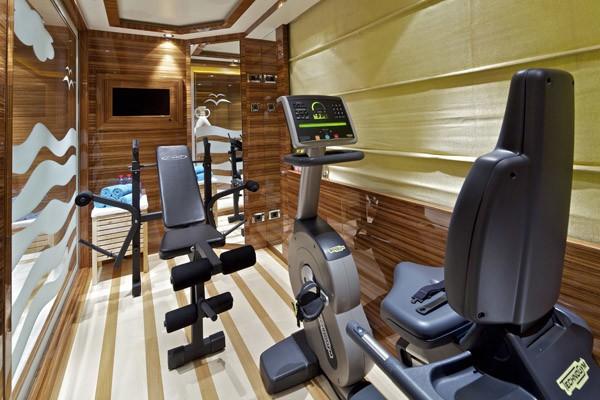 Gym On Board Yacht MIA RAMA
