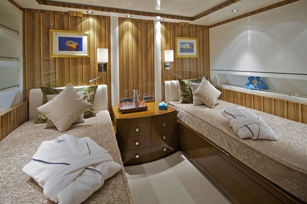First Twin Bed Cabin Aboard Yacht MIA RAMA