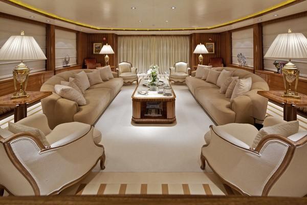 Saloon Aboard Yacht MIA RAMA