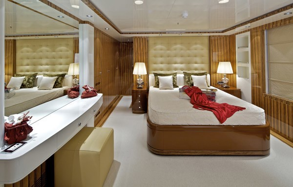 Aspect: Yacht MIA RAMA's Red Guest's Cabin Pictured