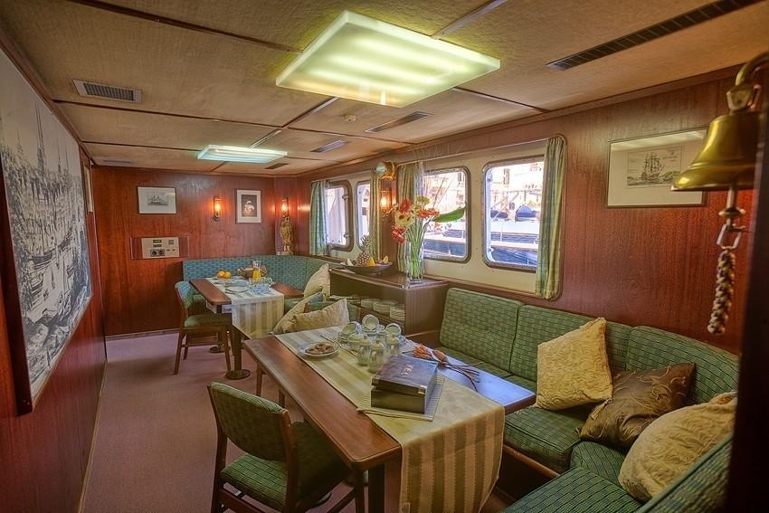 Lounging Sitting Aboard Yacht SANSSOUCI STAR