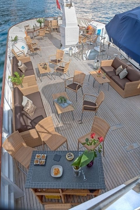 Aft Deck On Board Yacht SANSSOUCI STAR