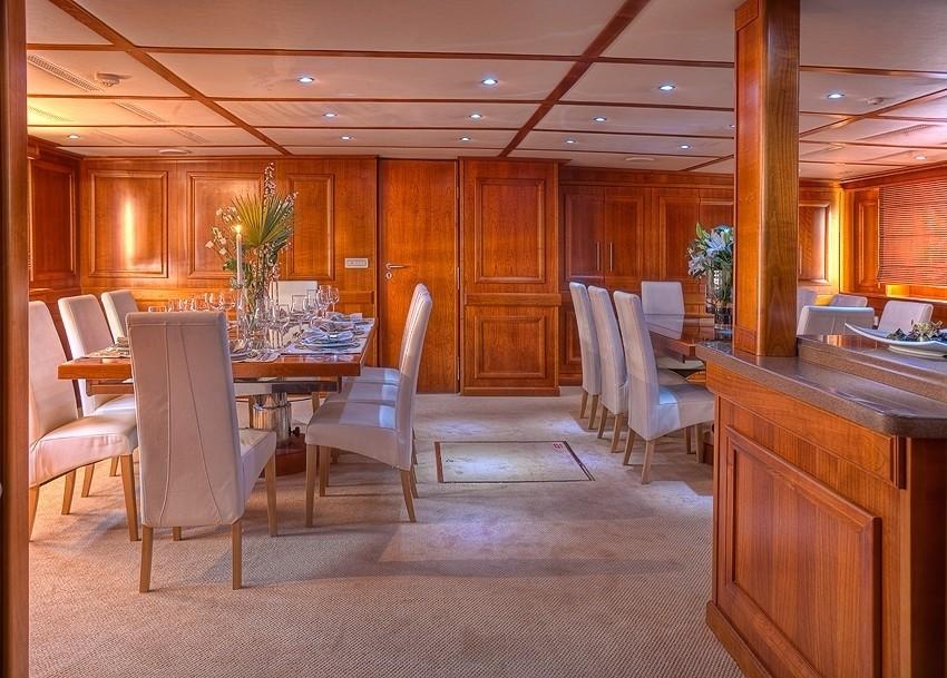 Inside Eating/dining On Board Yacht SANSSOUCI STAR