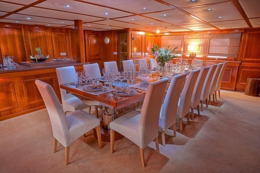 Eating/dining Saloon Aboard Yacht SANSSOUCI STAR