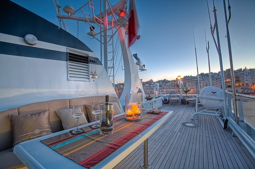Deck Sitting Aboard Yacht SANSSOUCI STAR