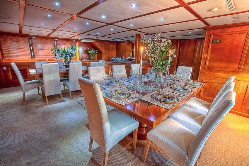 Eating/dining Tables On Yacht SANSSOUCI STAR