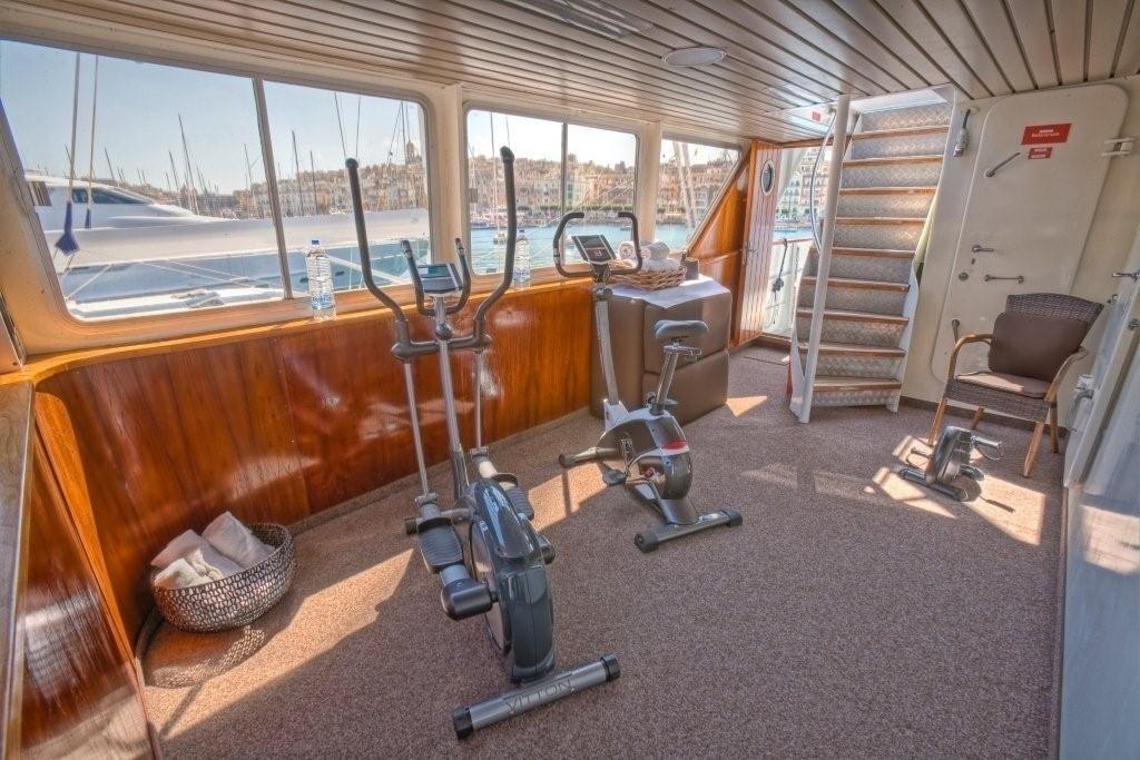 Gym Aboard Yacht SANSSOUCI STAR