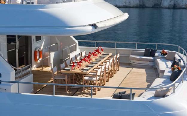 Outdoor Eating/dining Aboard Yacht MARIU