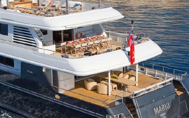 Aft Decks On Board Yacht MARIU