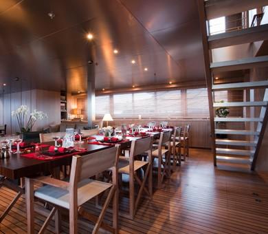 Premier Saloon Eating/dining On Board Yacht MARIU