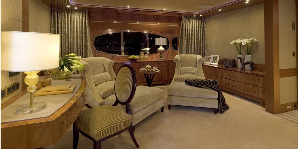Main Master Cabin Lounge Area