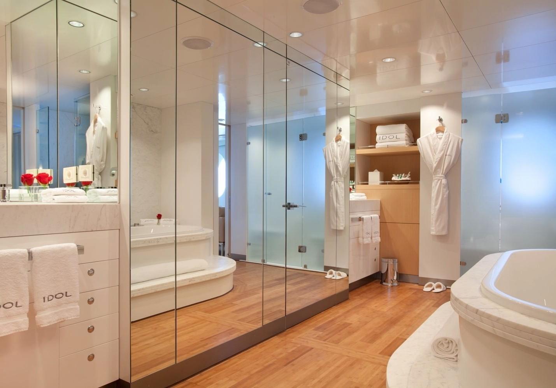 Bathroom: Yacht IDOL's Main Master Cabin Pictured