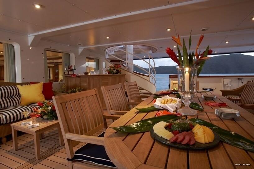 Aft Deck On Board Yacht SEAWOLF