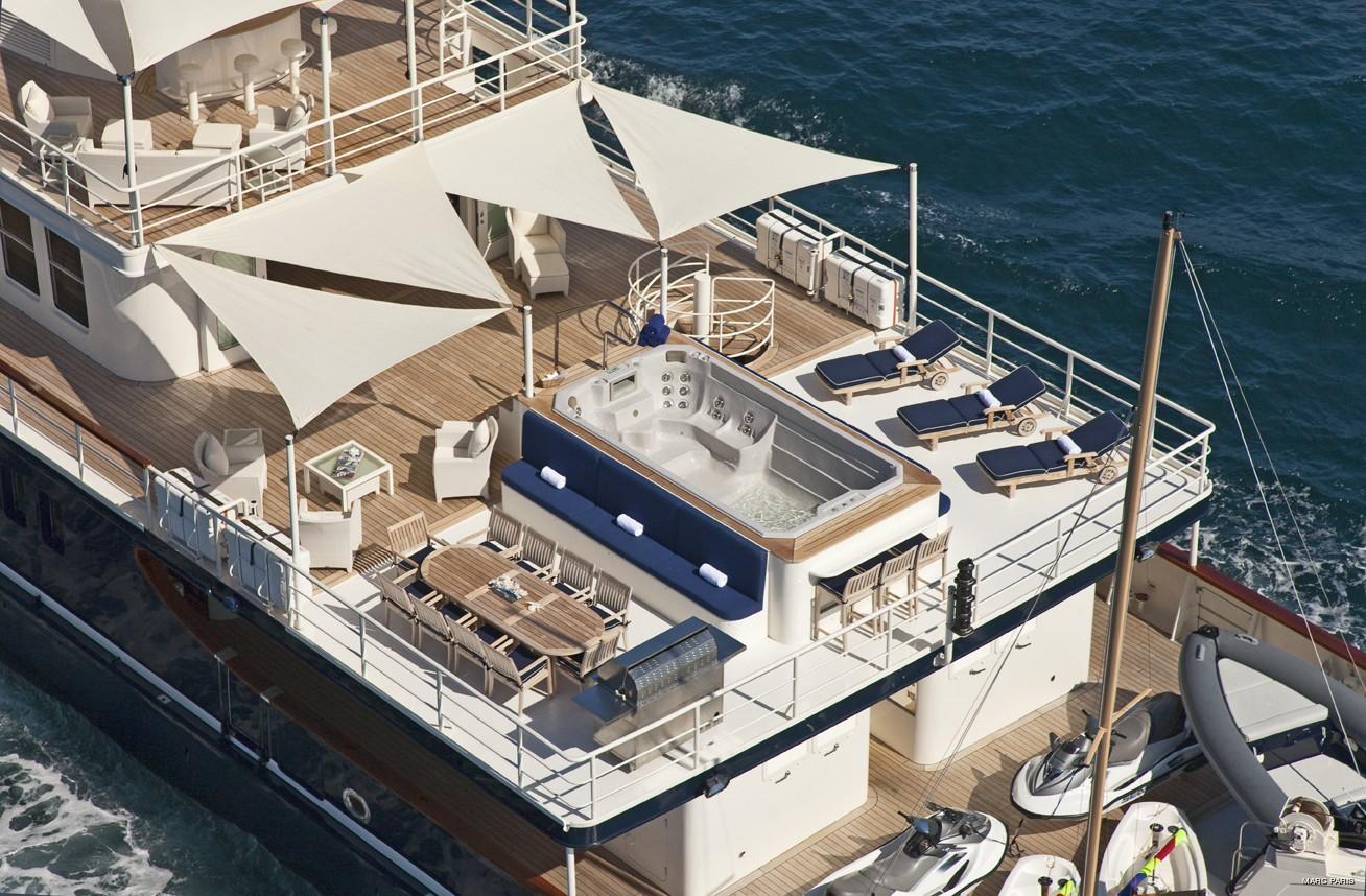 From Above Aspect: Yacht SEAWOLF's Sun Deck Captured