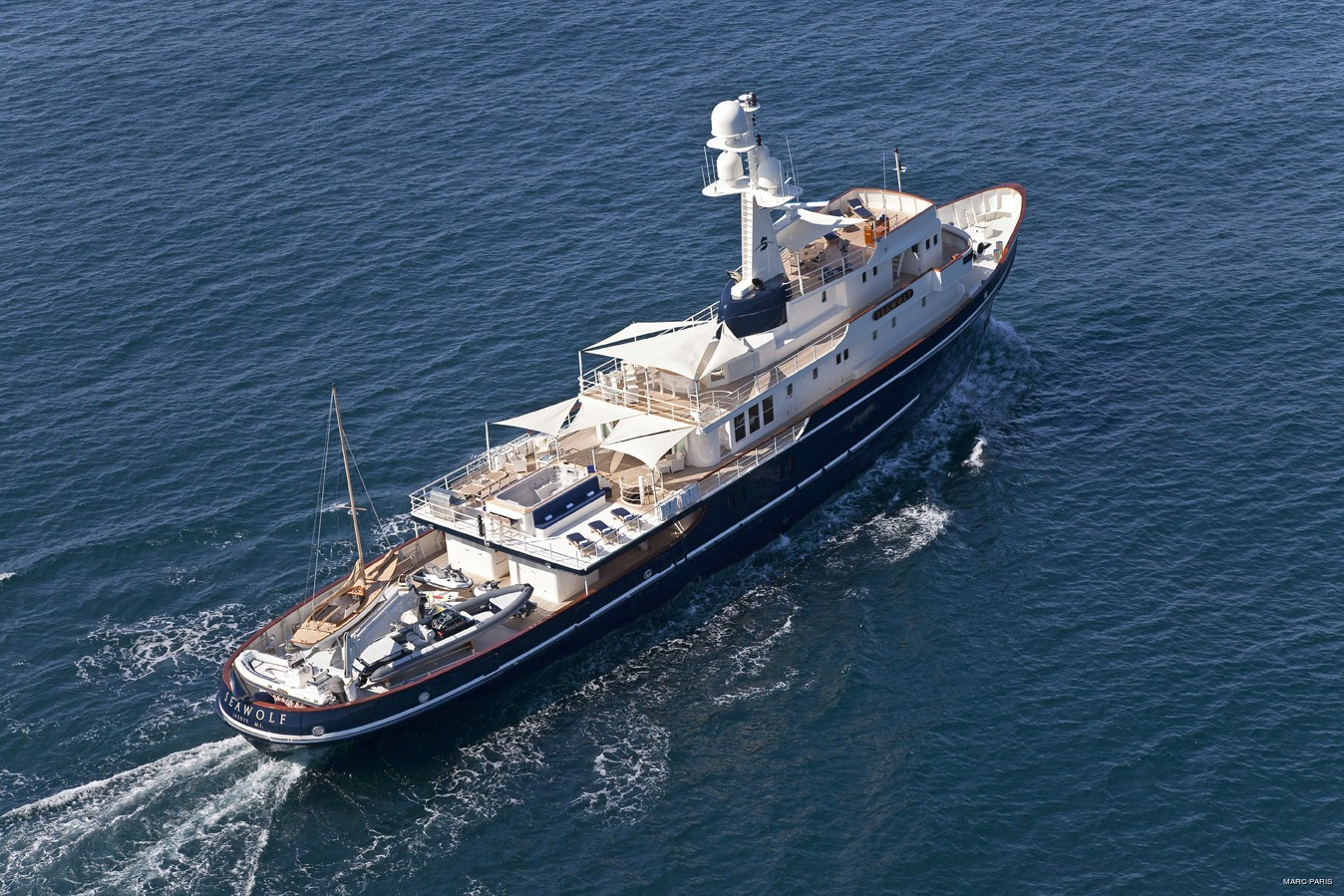 From Above: Yacht SEAWOLF's Cruising Pictured