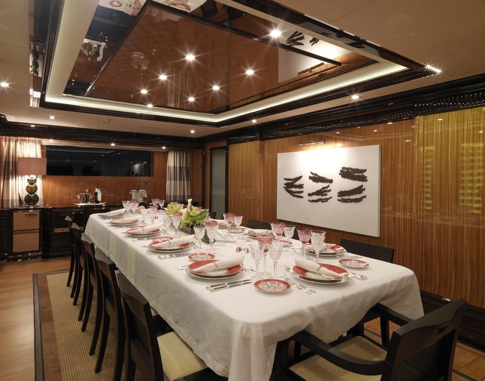 formal dining area luxury meal/dinner set up for custom-made menu