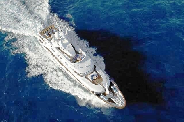 From Above Aspect Aboard Yacht STARFIRE