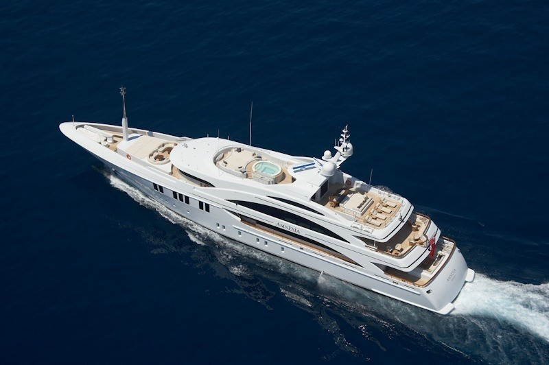 From Above: Yacht ANDREAS L's Cruising Image