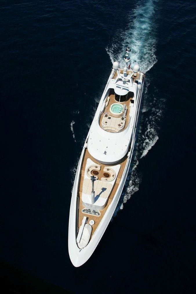 From Above Aspect On Yacht ANDREAS L
