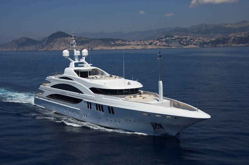 Forward Aspect: Yacht ANDREAS L's Cruising Pictured