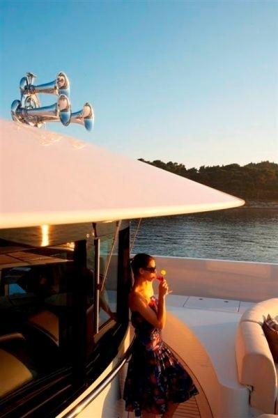 Sunset Dusk On Yacht ANDREAS L