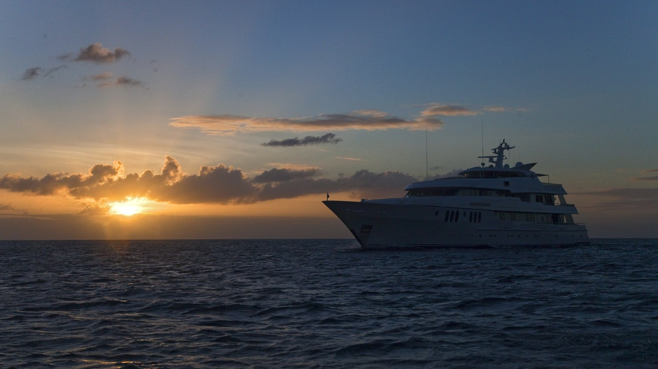 Overview: Yacht BLUE MOON's Sunset Dusk Pictured